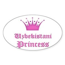 Uzbekistani Princess Oval Decal