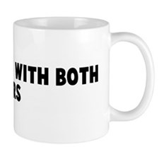 Not rowing with both oars Small Mug