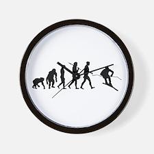 Downhill Skiing Wall Clock