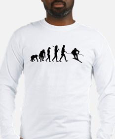 Downhill Skiing Long Sleeve T-Shirt