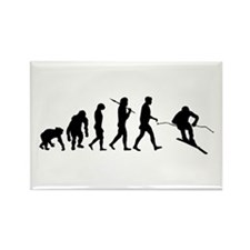 Downhill Skiing Rectangle Magnet