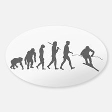 Downhill Skiing Decal