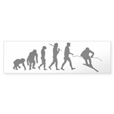 Downhill Skiing Bumper Sticker