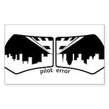 Pilot Error Rectangle Decal