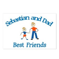 Sebastian & Dad - Best Friend Postcards (Package o