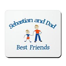 Sebastian & Dad - Best Friend Mousepad