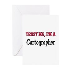 Trust Me I'm a Cartographer Greeting Cards (Pk of