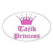 Tajik Princess Oval Decal