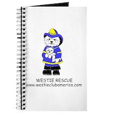 Blue Fireman Logo Journal