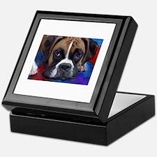 Unique Boxer dog Keepsake Box