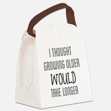 Funny Old Canvas Lunch Bag