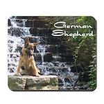 German Shepherd Fountain  Mousepad
