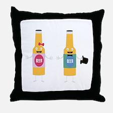 Wedding Beerbottle couple Cn4bx Throw Pillow