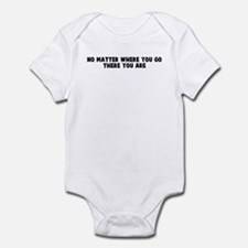 No matter where you go there  Infant Bodysuit
