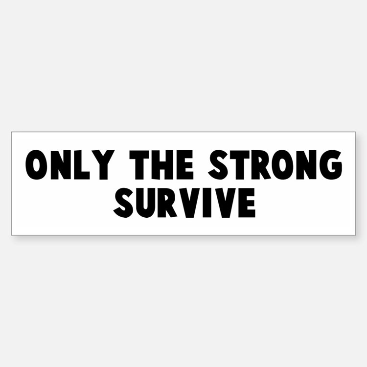 Only The Strong Survive Bumper Stickers Car Stickers