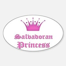 Salvadoran Princess Oval Decal