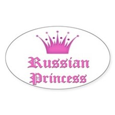 Russian Princess Oval Decal