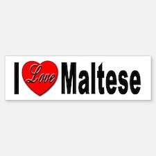 I Love Maltese Bumper Sticker for Dog Lovers