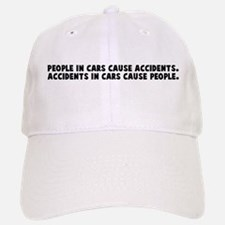 People in cars cause accident Baseball Baseball Cap