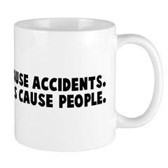 People in cars cause accident Mug