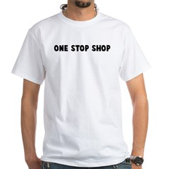 One stop shop White T-Shirt