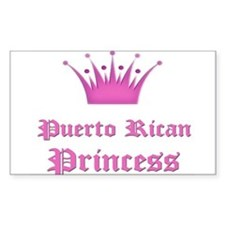 Puerto Rican Princess Rectangle Decal