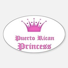 Puerto Rican Princess Oval Stickers