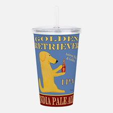 Golden Retriever IPA Acrylic Double-wall Tumbler