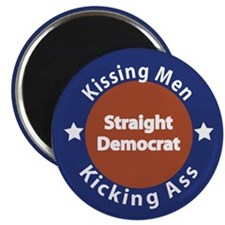 Straight Democrat Magnet