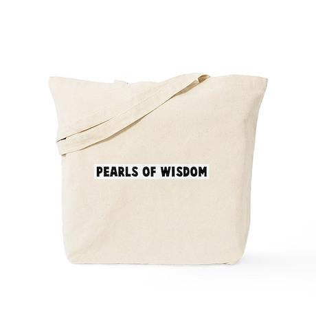 Pearls of wisdom Tote Bag
