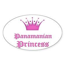 Panamanian Princess Oval Decal