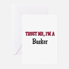 Trust Me I'm a Busker Greeting Cards (Pk of 10)