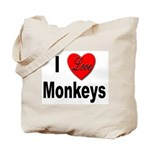 I Love Monkeys for Monkey Lovers Tote Bag