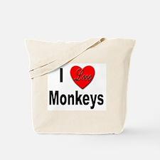 I Love Monkeys for Monkey Lovers Tote Bag