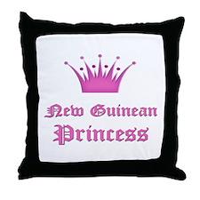 New Guinean Princess Throw Pillow