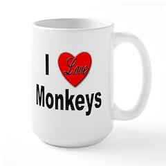 I Love Monkeys for Monkey Lovers Mug