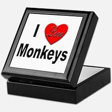 I Love Monkeys for Monkey Lovers Keepsake Box