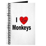 I Love Monkeys for Monkey Lovers Journal