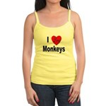 I Love Monkeys for Monkey Lovers Jr. Spaghetti Tan