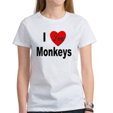 I Love Monkeys (Front) Tee