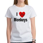 I Love Monkeys (Front) Women's T-Shirt