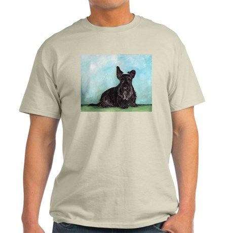 Scottish Terrier Dog Portrait Light T-Shirt