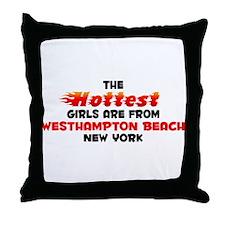 Hot Girls: Westhampton , NY Throw Pillow