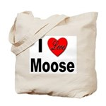 I Love Moose for Moose Lovers Tote Bag