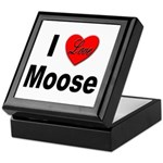 I Love Moose for Moose Lovers Keepsake Box