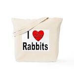 I Love Rabbits for Rabbit Lovers Tote Bag
