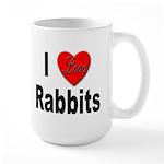 I Love Rabbits for Rabbit Lovers Large Mug
