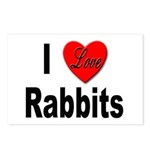 I Love Rabbits for Rabbit Lovers Postcards (Packag