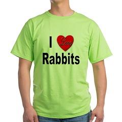 I Love Rabbits for Rabbit Lovers T-Shirt