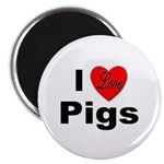 I Love Pigs for Pig and Hog Lovers Magnet